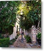 Small Lane In Charleston Metal Print