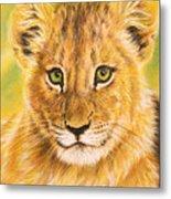 Small Lion Metal Print