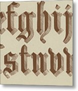 Small Old English Riband  Metal Print