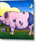 Small Pig Metal Print by Stacey Neumiller