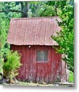 Small Red Barn - Lewes Delaware Metal Print