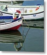 Small Skiffs - Lyme Regis Harbour Metal Print