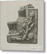 Small Stone Fountain Metal Print