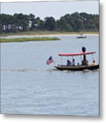 Small Stream Boat Metal Print