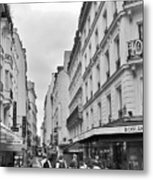 Small Street In Paris Metal Print