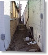Small Town Alley Metal Print
