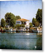 Small Town In Greece Metal Print
