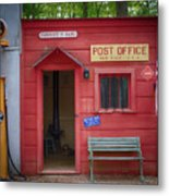 Small Town Post Office Metal Print