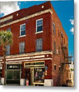 Small Town Shops Metal Print