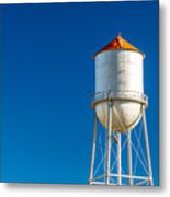 Small Town Water Tower Metal Print