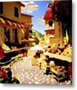 small urban market on Capri island Metal Print