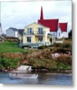 Small Village Metal Print