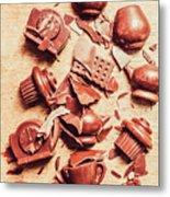 Smashing Chocolate Fondue Party Metal Print