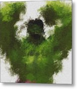 Smashing Green Metal Print