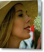Smell The Flowers Metal Print