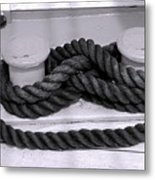Smiley Rope Metal Print