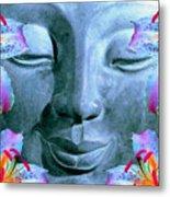 Smiling Buddha Metal Print