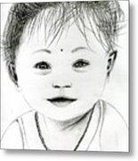 Smiling Child Metal Print
