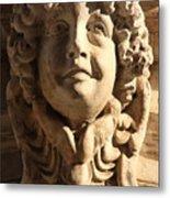 Smiling Head Above Door In Venice Metal Print