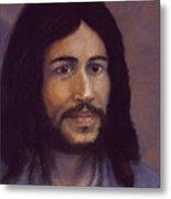 Smiling Jesus Metal Print