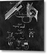 Smith And Wesson Model 3 Patent Metal Print