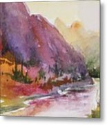 Smith Rock Fall Morning 1 Metal Print