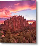 Smith Rock Sunset Metal Print
