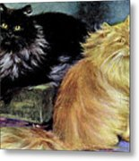 Smoke And Orange Persians Metal Print