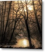 Smoke By The Water Metal Print