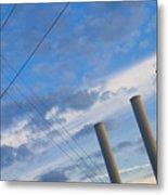 Smoke Stax Metal Print
