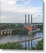 Smokestacks On The Mississippi Metal Print