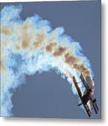 Smokey Biplane Metal Print
