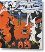 Smokey Halloween Metal Print
