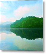 Smokey Mountain Lake Metal Print