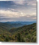 Smokey Mountain Sky Metal Print