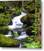 Smokey Mountain Stream Metal Print
