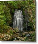 Smokey Mountain Waterfall Metal Print