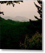 Smokey Mountains At New Found Gap Metal Print by Kimberly Camacho
