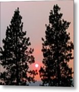 Smokey Okanagan Sunset Metal Print