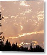 Smokey Skies Sunset Metal Print