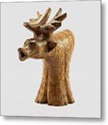 Smokin' Moose Metal Print