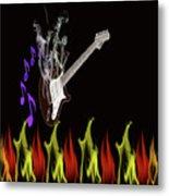 Smoking Guitar Metal Print
