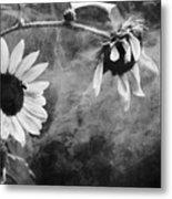 Smoking Sunflowers Metal Print