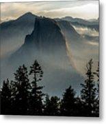 Smoky Dawn At Yosemite Metal Print