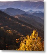 Smoky Mountain Hillsides At Autumn Metal Print