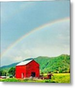 Smoky Mountain Rainbow  Metal Print