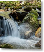 Flowing Stream #3, Smoky Mountains, Tennessee Metal Print