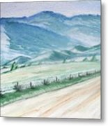 Smoky Mountains From Cades Cove Loop Metal Print