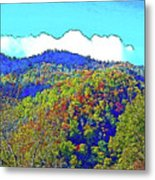Smoky Mountains Scenery 6 With Sunny Day Filter Metal Print