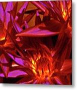 Smoldering Lilies Metal Print